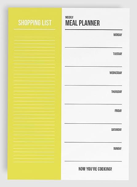 info for a2ddf 2b071 Essensplaner Einkaufsliste A5 Block / 50 Seiten - Meal Planner Shopping List