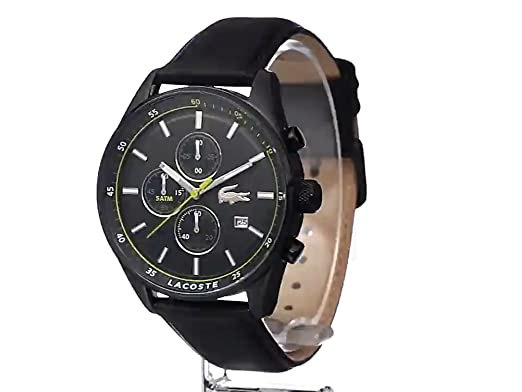 7a644f70f Amazon.com: Lacoste Men's 2010785 Dublin Analog Display Japanese Quartz Black  Watch: Lacoste: Watches