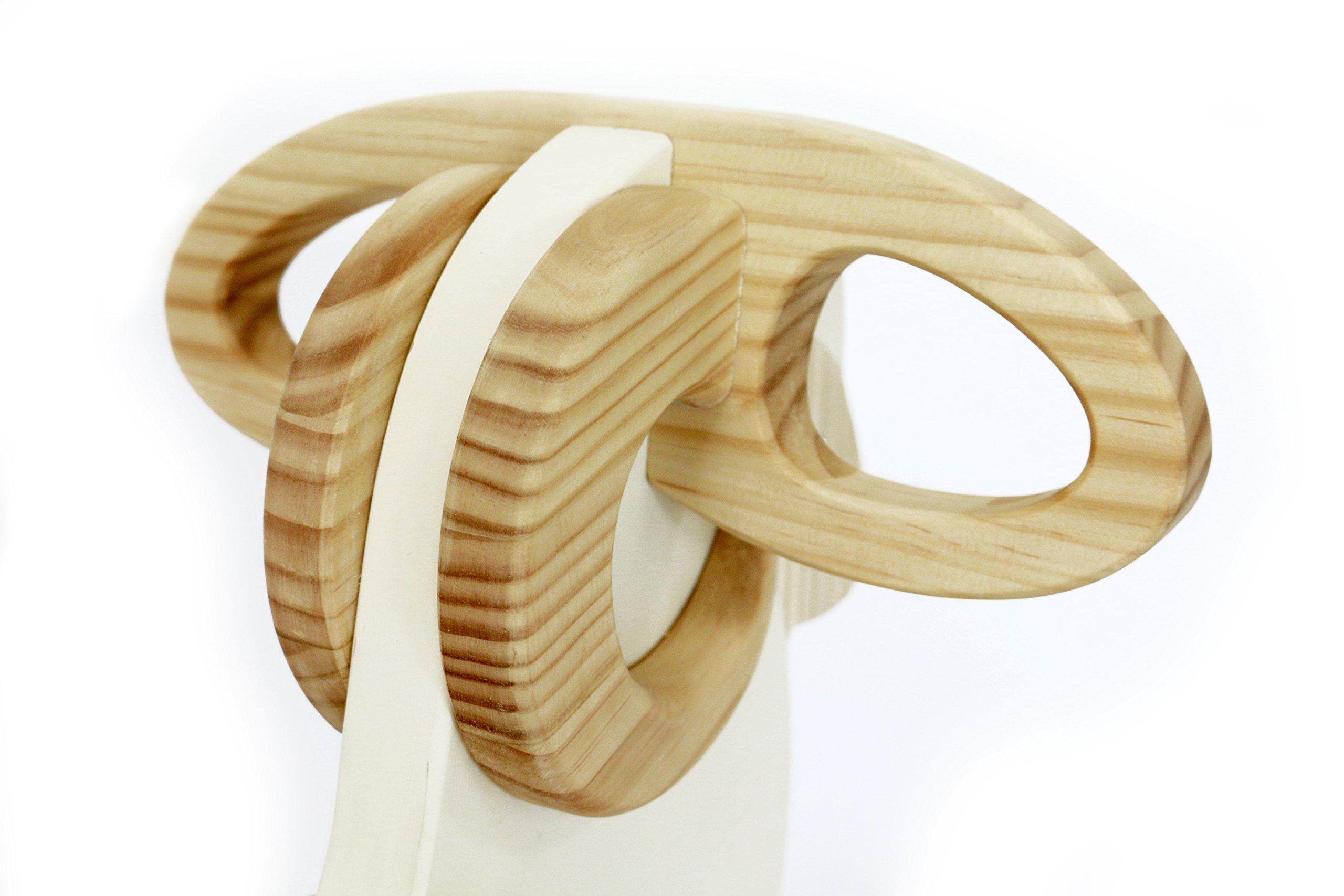WOODSTUDIOALP Wooden Rocking Cream Sheep 100% Handmade