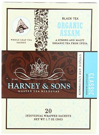Harney and Sons bolsas de té orgánicas, 20 unidades: Amazon ...