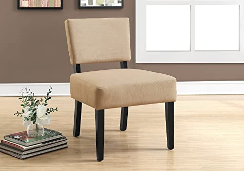Monarch Specialties I Accent Chair, Beige