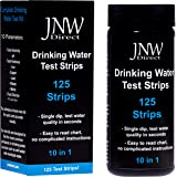 JNW Direct Drinking Water Test Strips 10 in 1, Best Kit for Accurate Water Quality Testing at Home, 125 Strips MEGA Pack, Easy to Read & Instant Results