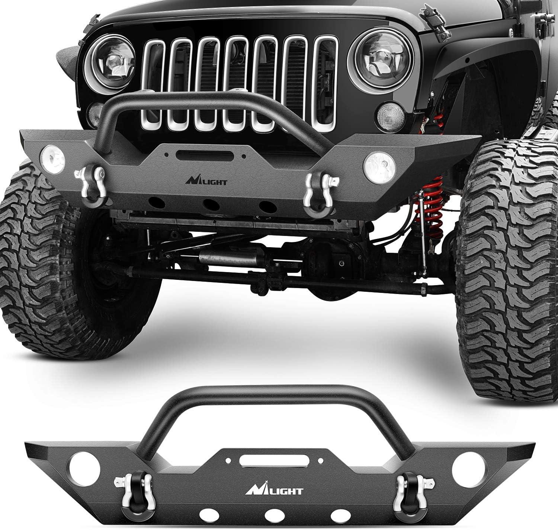 Nilight 2007-2018 Jeep Wrangler JK Front Bumper