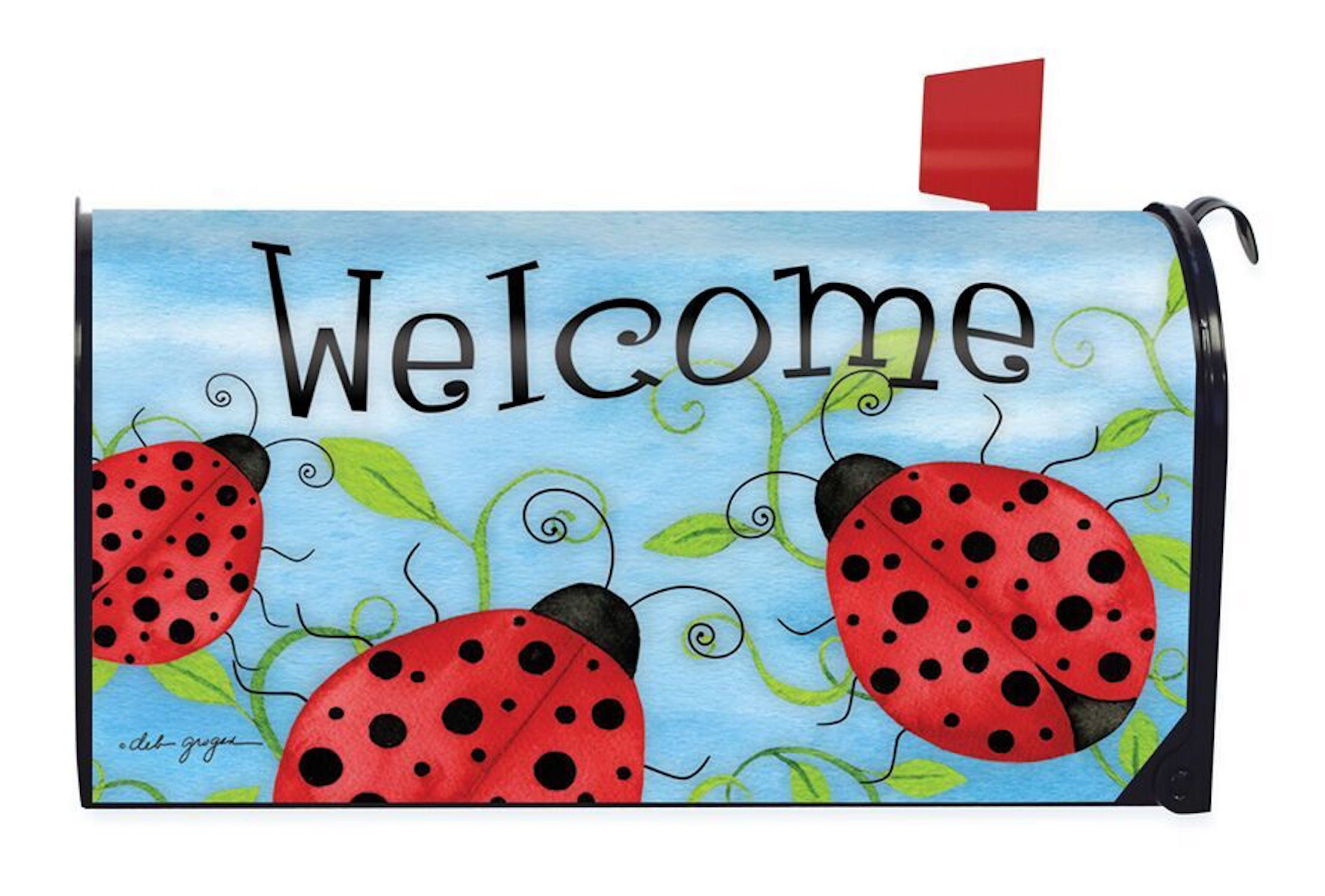 Briarwood Lane Ladybug Welcome Spring Magnetic Mailbox Cover Critters