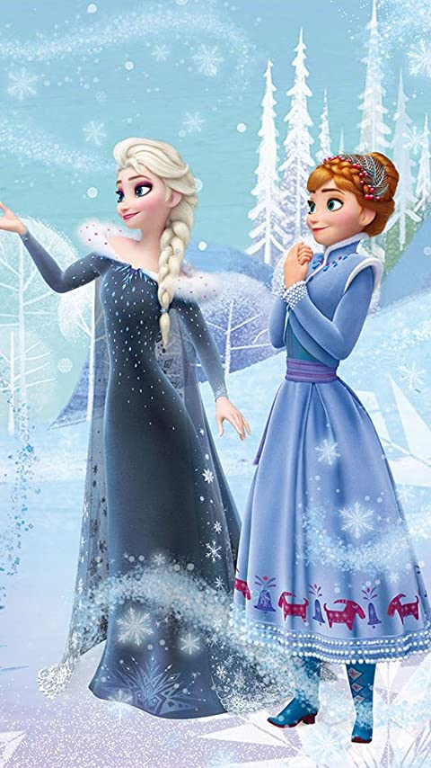 ディズニー アナと雪の女王 家族の思い出 家族の絆 XFVGA(480×854)壁紙画像