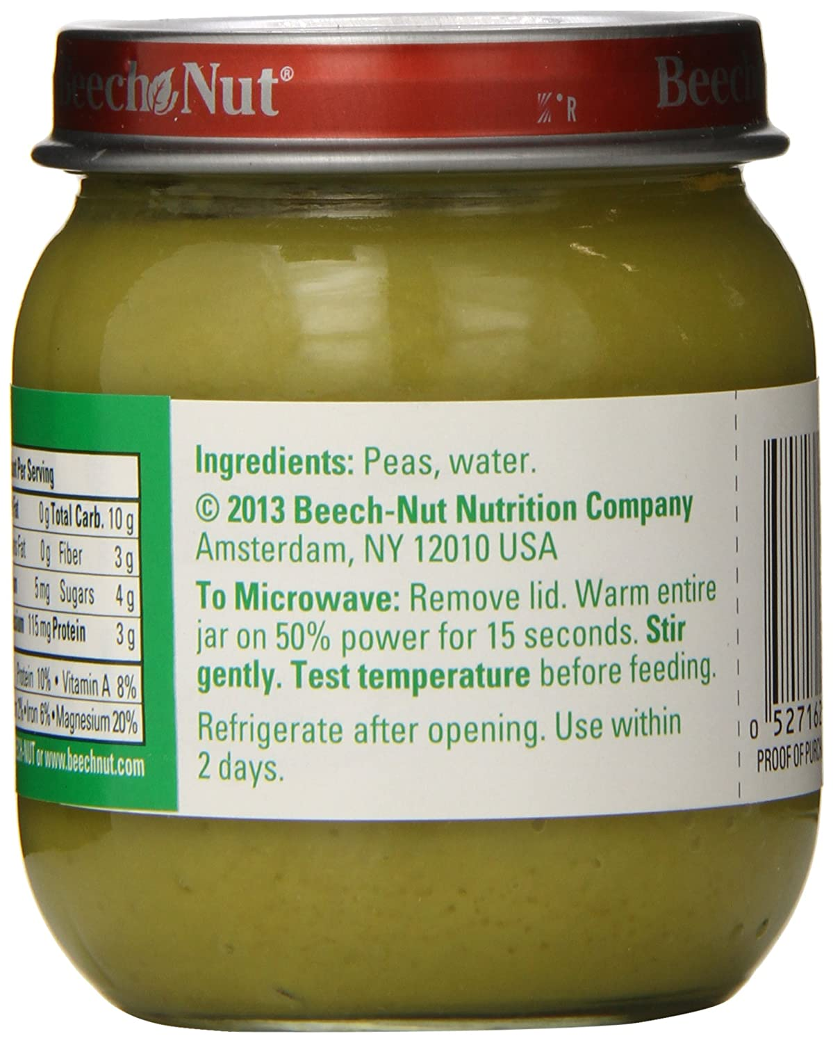 Beech-Nut Classics, Sweet Peas, 4 Ounce (Pack of 10): Amazon.com: Grocery & Gourmet Food