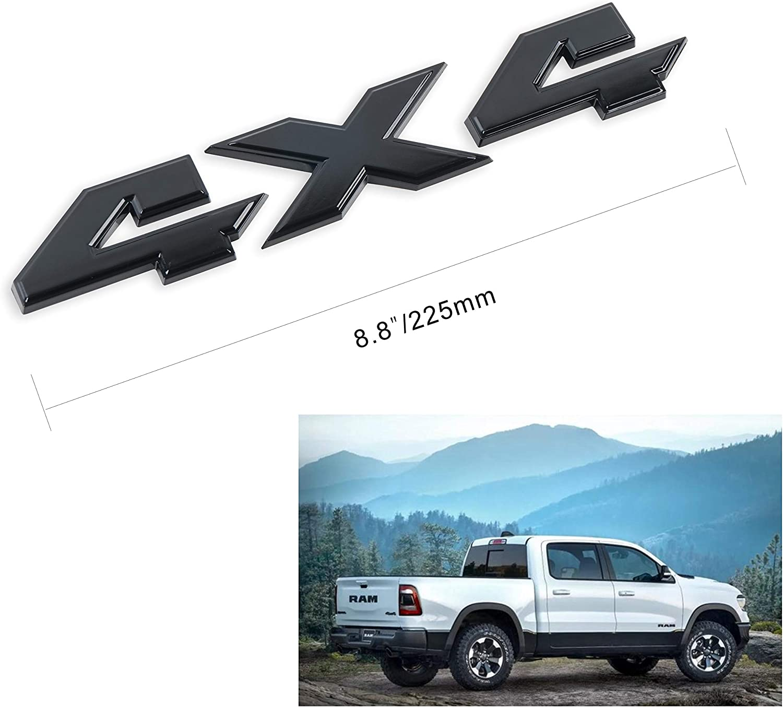 4X4 Emblem 8.8 Inch Badge for Dodge Ram 1500 2500 3500 Ford F150 JEEP-BLACK