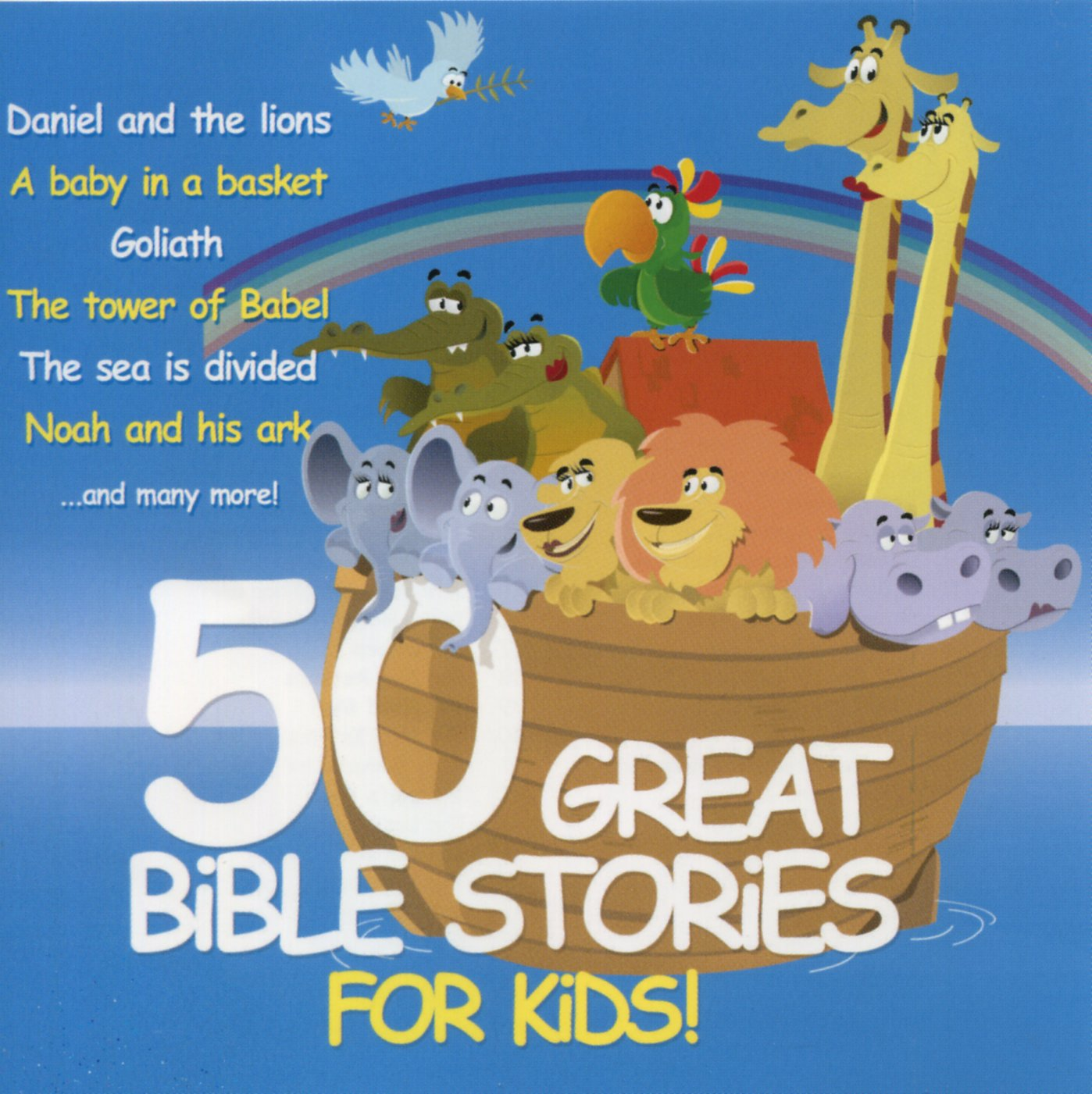 various artists 50 great bible stories for kids amazon com music