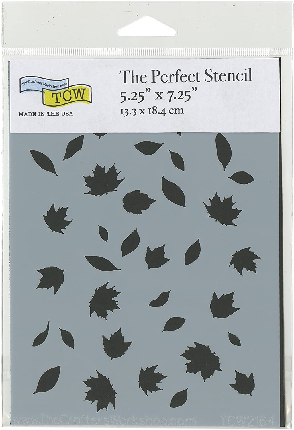 The Crafter's Workshop A7 Falling Leaves Perfect Stencils 5.25X7.25 3 Birds TCW2164