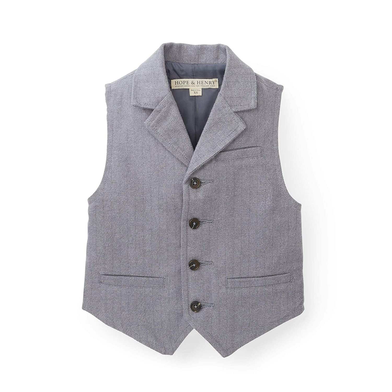 Vintage Style Children's Clothing: Girls, Boys, Baby, Toddler Hope & Henry Boys Herringbone Suit Vest $24.95 AT vintagedancer.com