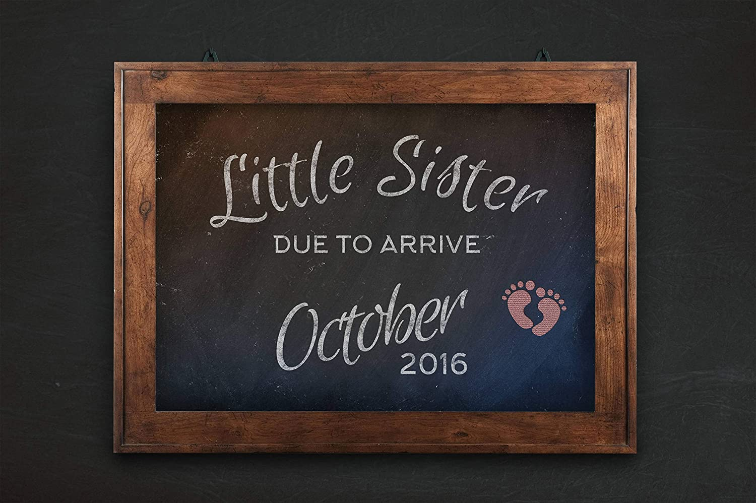Bun Girls - Little Sister Due, Pregnancy Announcement, custom PRINTABLE, bun in the oven, baby announcement, expecting girl, chalkboard sign, big sister