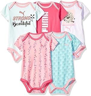 02e9bc414763c Amazon.com: PUMA Baby Girls' Three Pack Bodysuit Set: Clothing