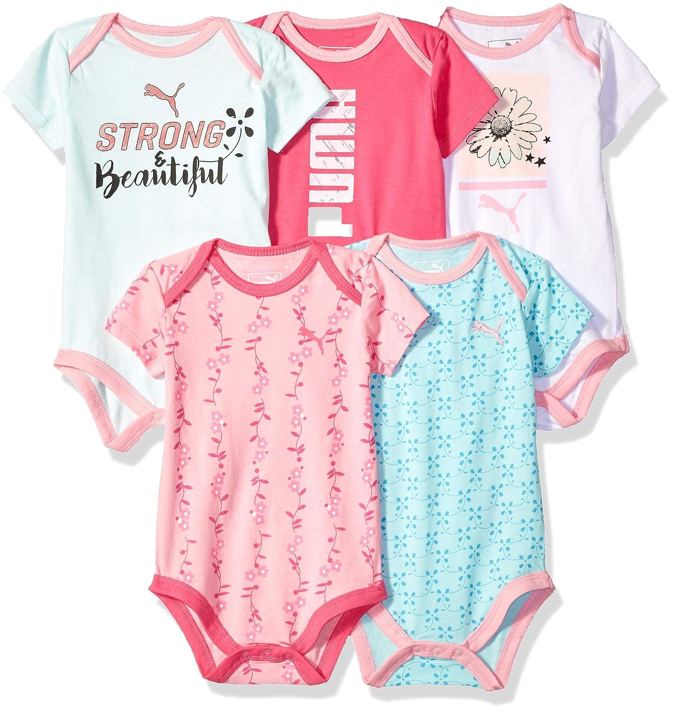 PUMA Baby Girls Five Pack Bodysuit Set 111866185-P671
