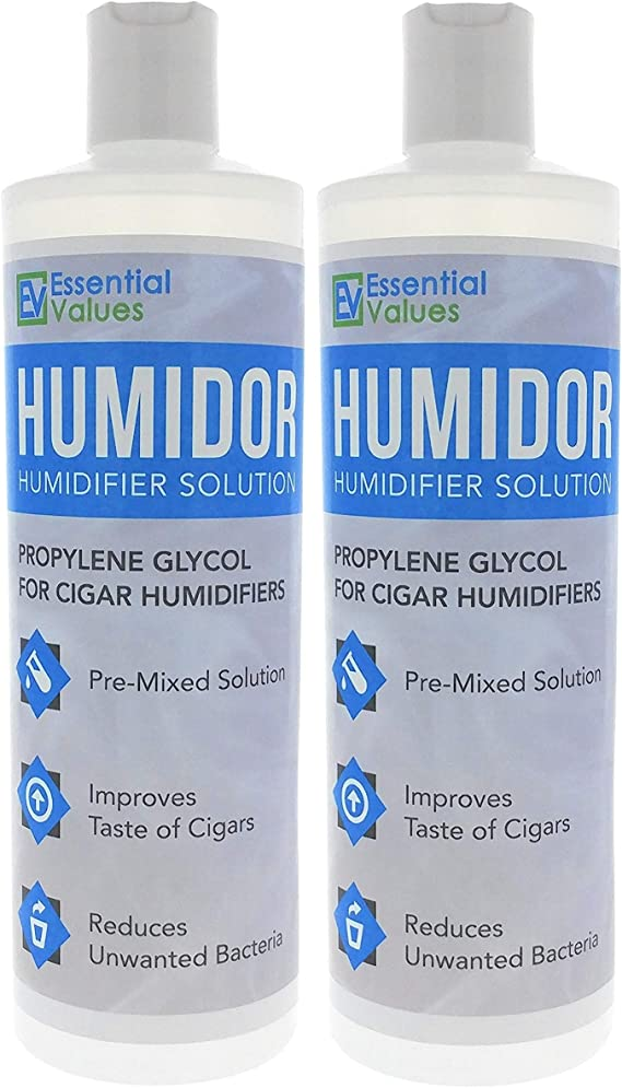 Cigar Humidor Solution (2 Pack / 16 oz Per Bottle)