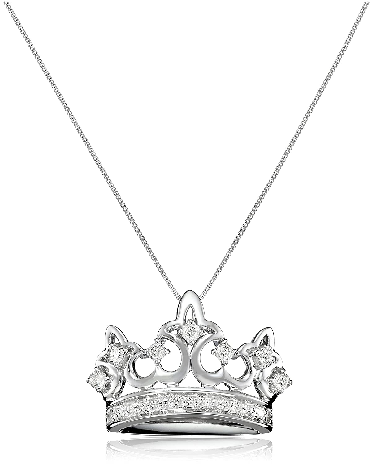 product cz crown for chokers pendant pendants gold silver necklace women