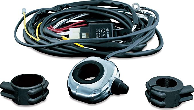 Kuryakyn 2202 Motorcycle Accessory: Driving Light Wiring and Relay on