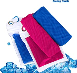 Mochen Cooling Towel, Soft Breathable Chilly Towel Ice Towel ,Microfiber Towel,Fast Dry for Beach Sports Running , for Sports, Gym, Yoga, Travel, 2 Pack