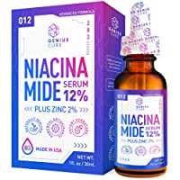Niacinamide Serum for Face 12% Zinc-Vitamin B3 Anti Aging Skin Moisturizer - Vitamin B3 Anti Aging Skin Moisturizer - Diminishes Acne, Breakouts, Wrinkles, Lines, Dark Spot Remover - 1oz