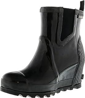 1ab25f03dc5 Sorel Women s Joan Rain Wedge Chelsea Gloss Rain Booties