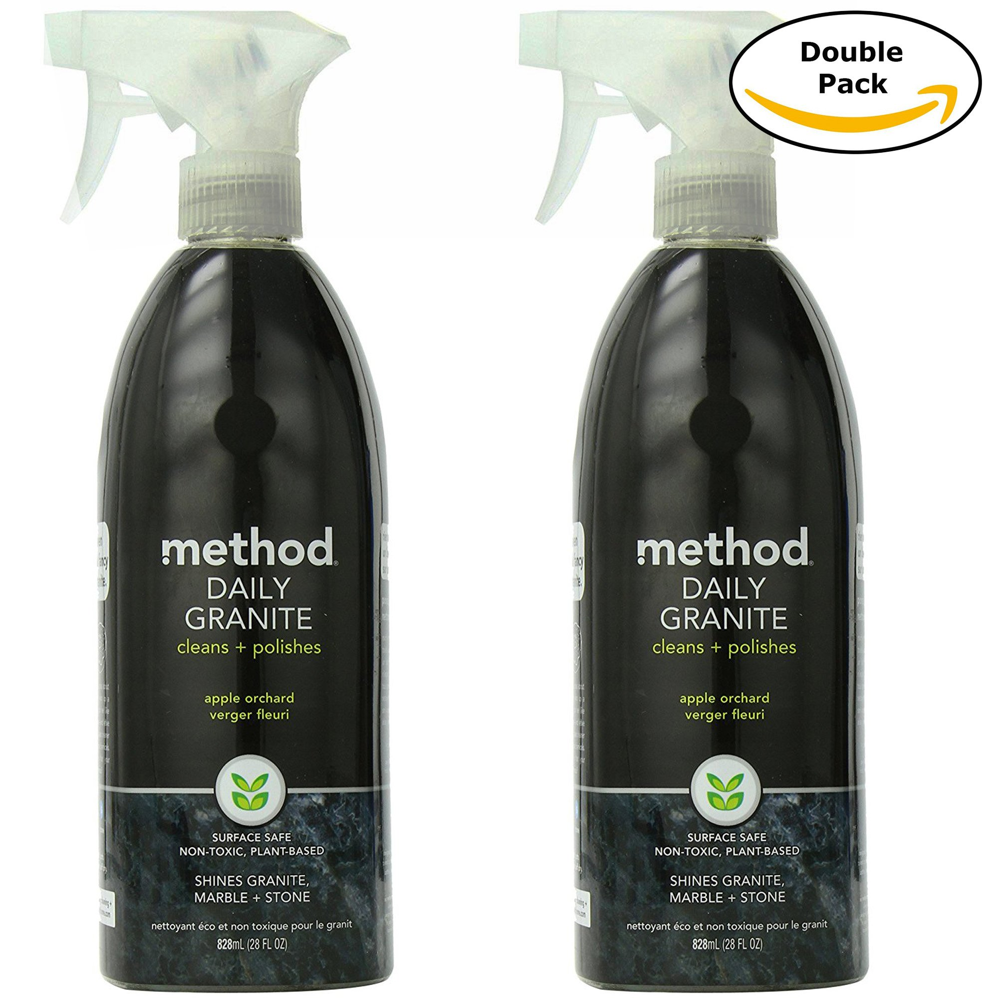 Method Naturally Derived Daily Granite Cleaner Spray, Apple Orchard, 28 FL Oz Twin Pack (28 x 2, Total 56 Oz)