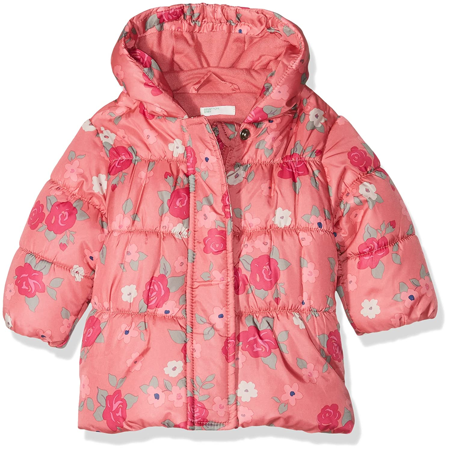 United Colors of Benetton Baby-Mädchen Jacke Rosa (Pink Flower Print) 2AW55330E