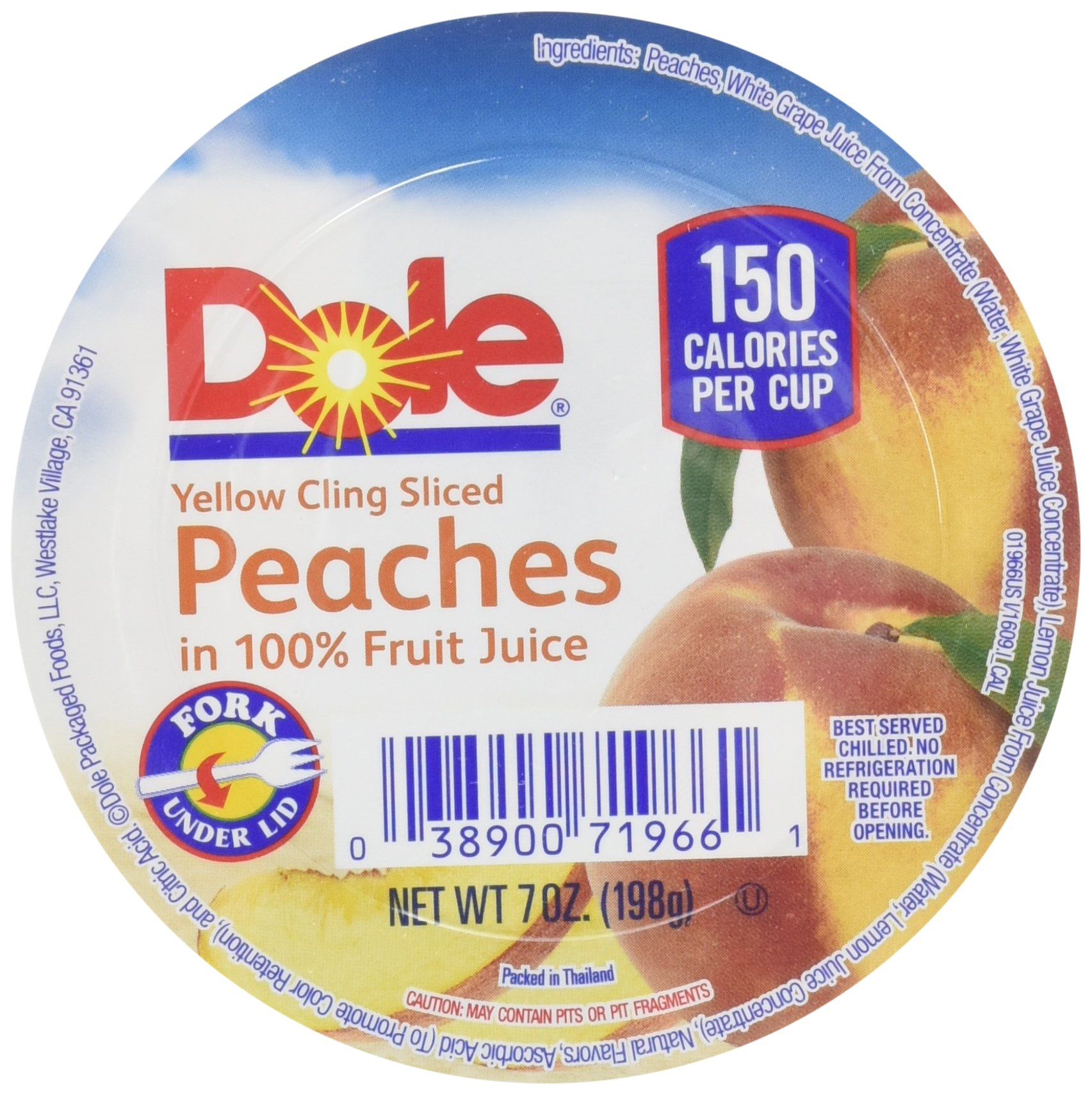Dole Sliced Peach in Light Syrup, 7-Ounce Cups (Pack of 12) by Dole (Image #3)