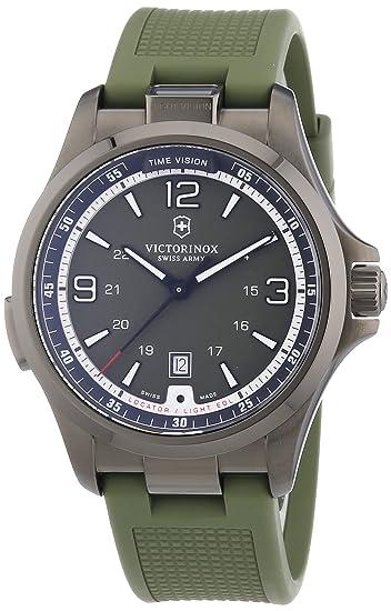 Victorinox Swiss Army Night Vision 241595 - Reloj analógico de cuarzo para hombre, correa de