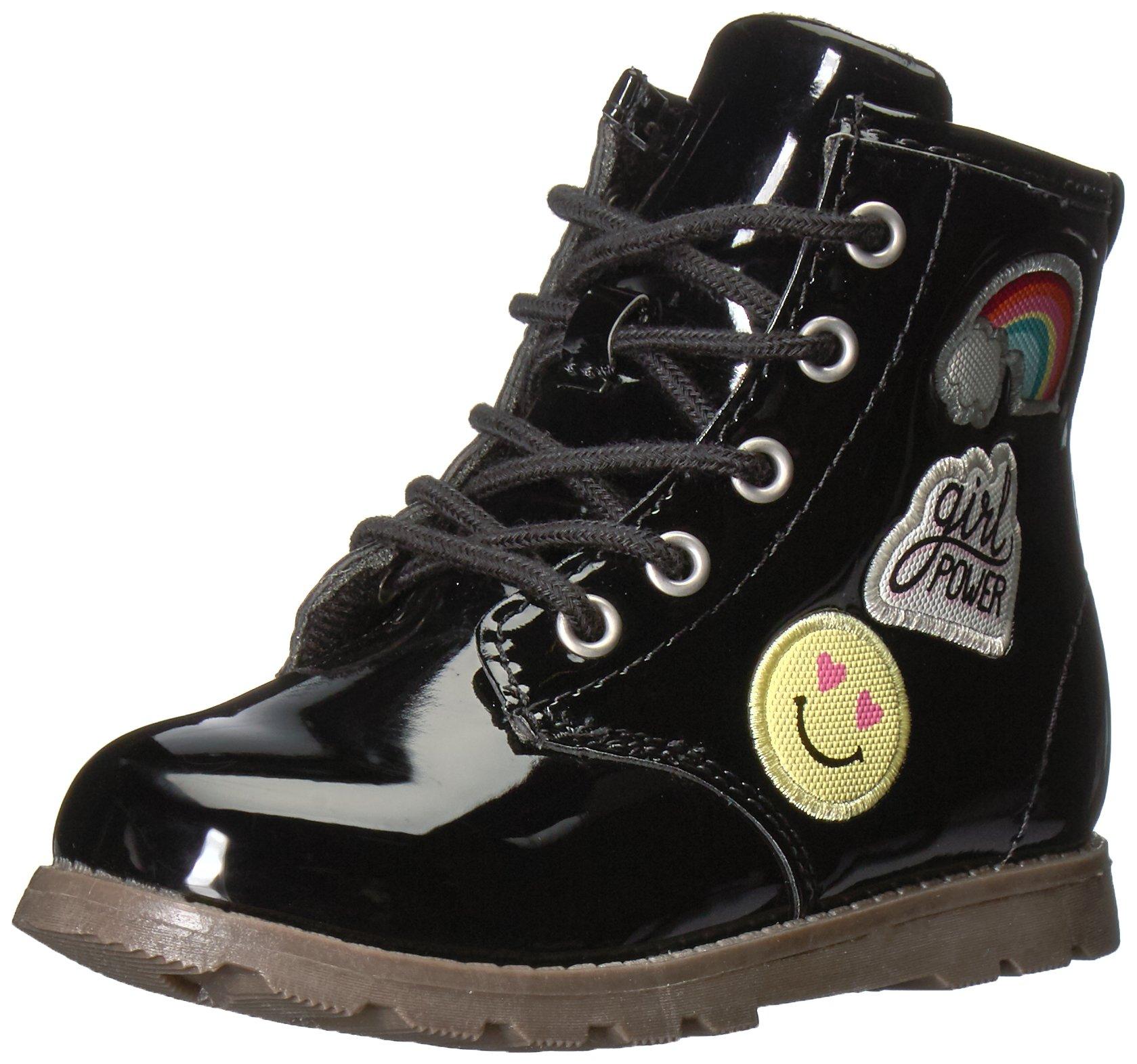 Carter's Girls' Aubrey Fashion Boot, Black, 12 M US Little Kid