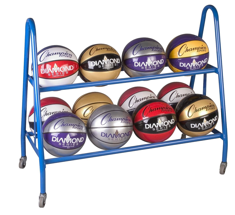 Champion Sports Ball Carts, 38x17.5x35.75-Inch BRC12