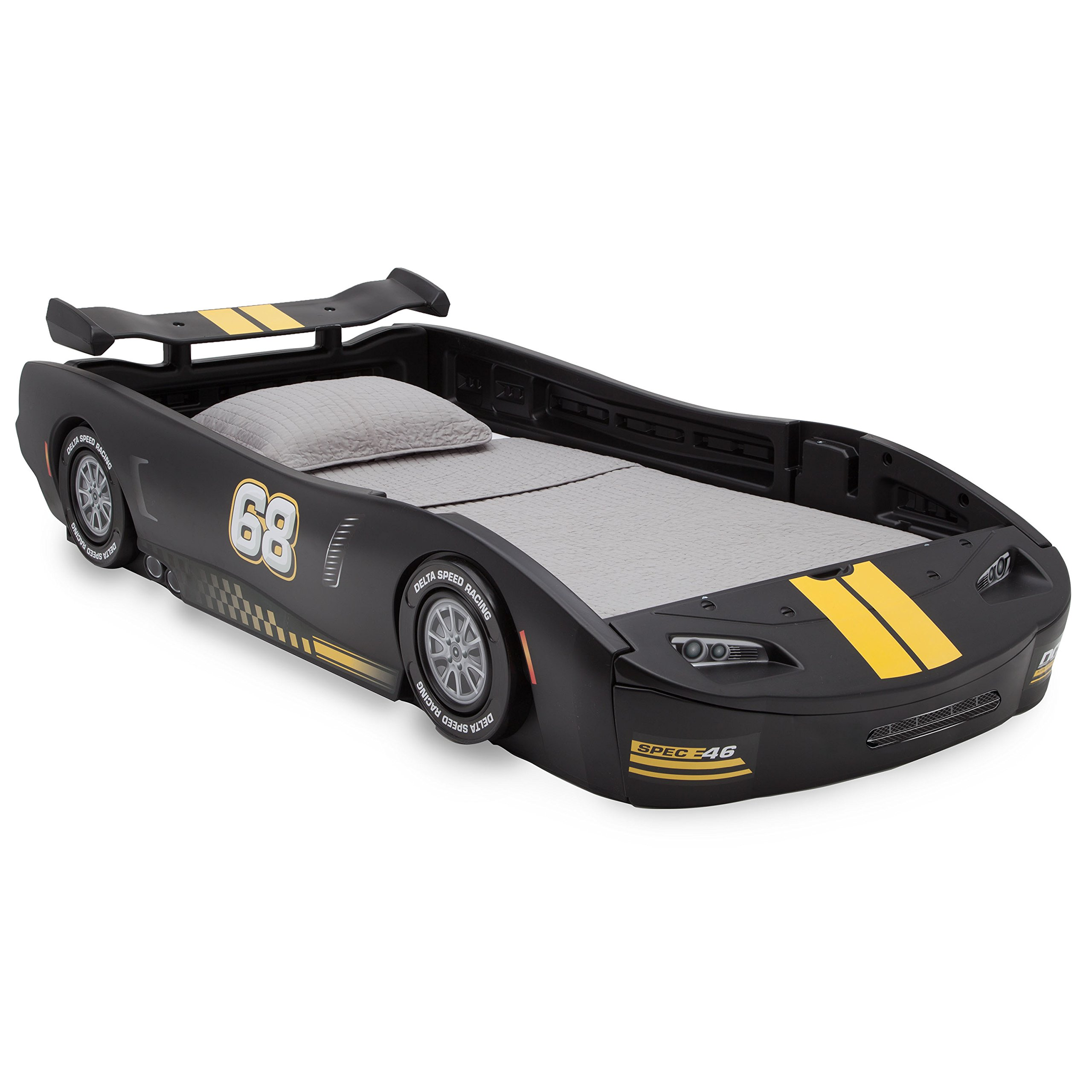 Delta Children Turbo Race Car Twin Bed, Black by Delta Children