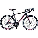TRINX(トリンクス) 【ロードバイク】デュアルコントロールモデル ShimanoNEWクラリス搭載 Craris シマノ16Speed 軽量 700Cアルミフレーム&アルミフロントフォーク TEMPO3.0 ロードバイクエントリーモデル 3サイズ4カラーバリエーション TEMPO3.0 ブラック/レッド 540mm