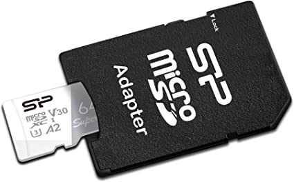 Silicon Power 64GB 2-Pack R//W up to 100// 80MB//s Superior Pro Micro SDXC UHS-I High Speed MicroSD Card with Adapter V30 4K A1 U3