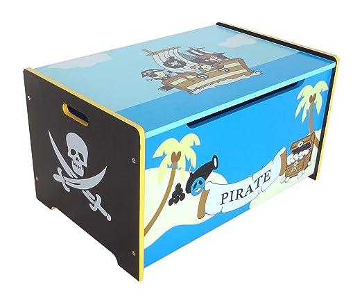 Piraten Kinderzimmer - Piraten Spielzeugtruhe