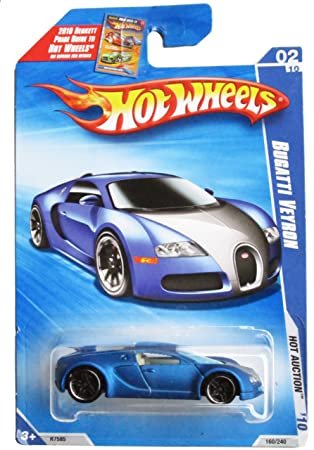 Amazon Com Hot Wheels Blue Bugatti Veyron Hot Auction