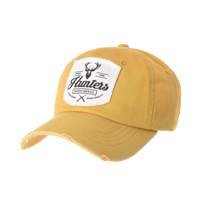 b917fcbdc WITHMOONS Baseball Cap Distressed Trucker Hat Deer Hunters Patch ...