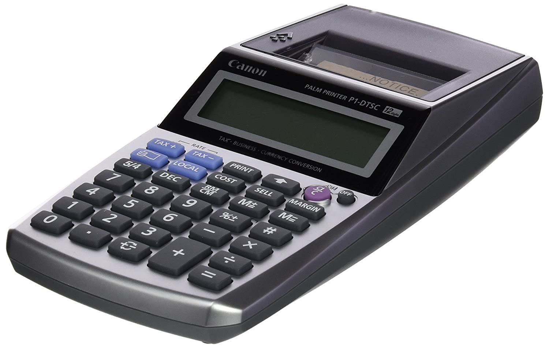 Canon P1-DTSC Scrivania Calcolatrice con stampa Nero, Argento calcolatrice 2494B006