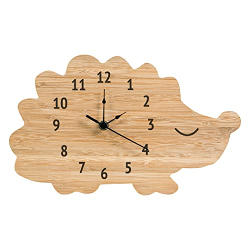 Trend Lab Bamboo Wall Clock, Brown, Hedgehog