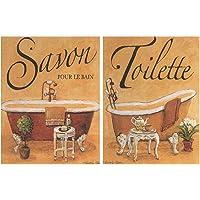 Placa de Madera Decorativa de baño en Tonos
