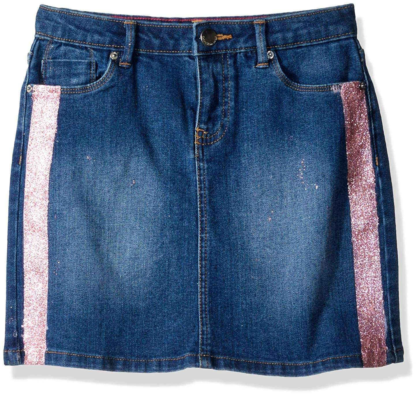 02acc7865a Button closure. Machine Wash Frayed hem gives this denim skirt a more  detailed and dynamic appearance. Stretch denim makes for a soft comfortable  fit