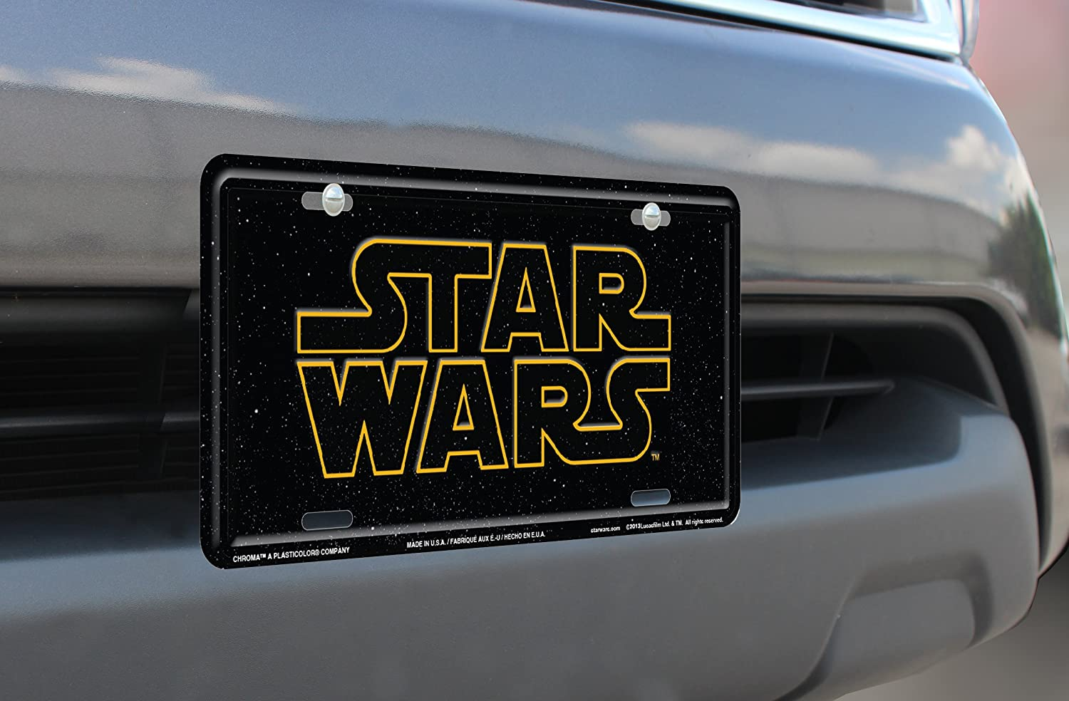 """Stamped Star Wars Metal License Plate With Universal Mounting Slots 6/"""" x 12/"""""""