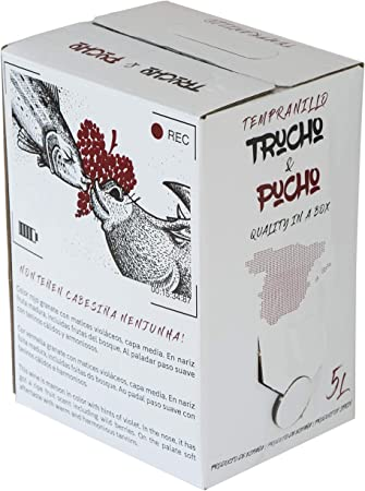Bag in Box 5L Vino Tinto Tempranillo TRUCHO & PUCHO