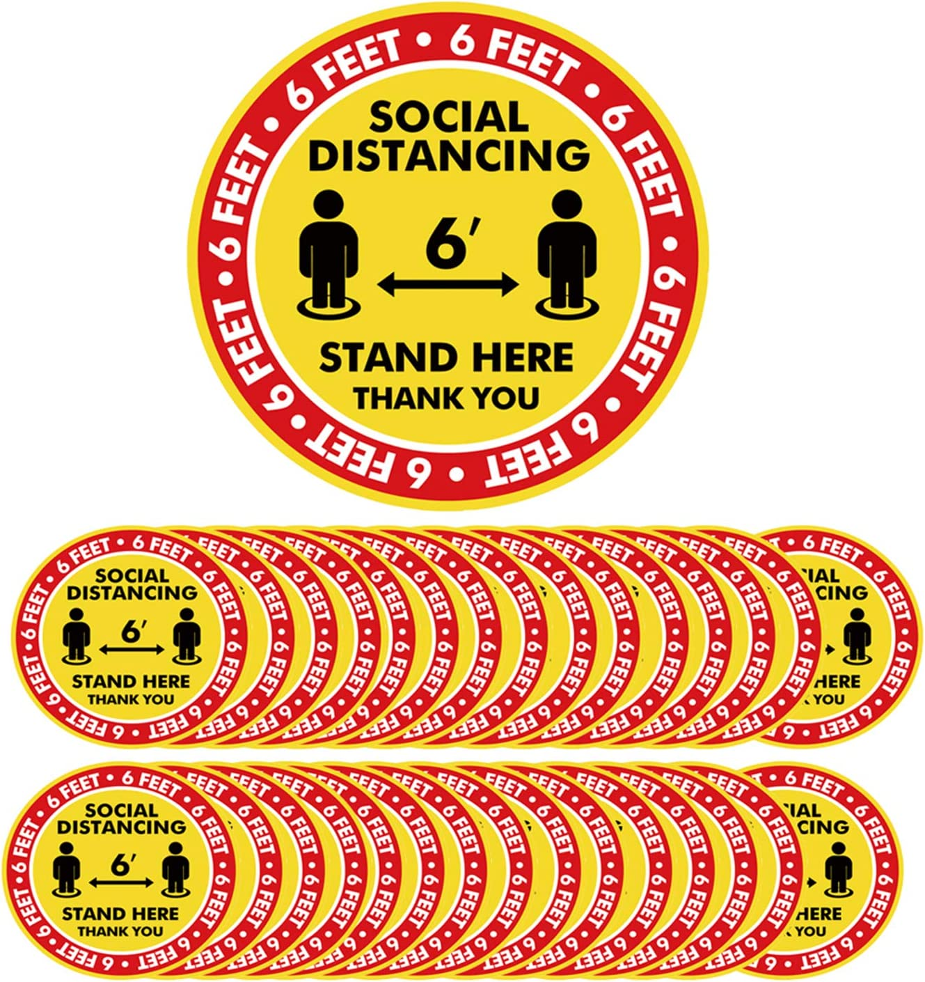 33m Heavy Duty Tape Social Distancing Floor Sticker Shop Retail FREE Delivery!