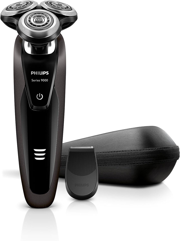 Philips Rasoi Elettrici Serie 9000 S9031/13 Rasoio Elettrico Wet & Dry con Lame di Precisione V-Track e Tecnologia Contour Detect, Include Rifinitore di Precisione