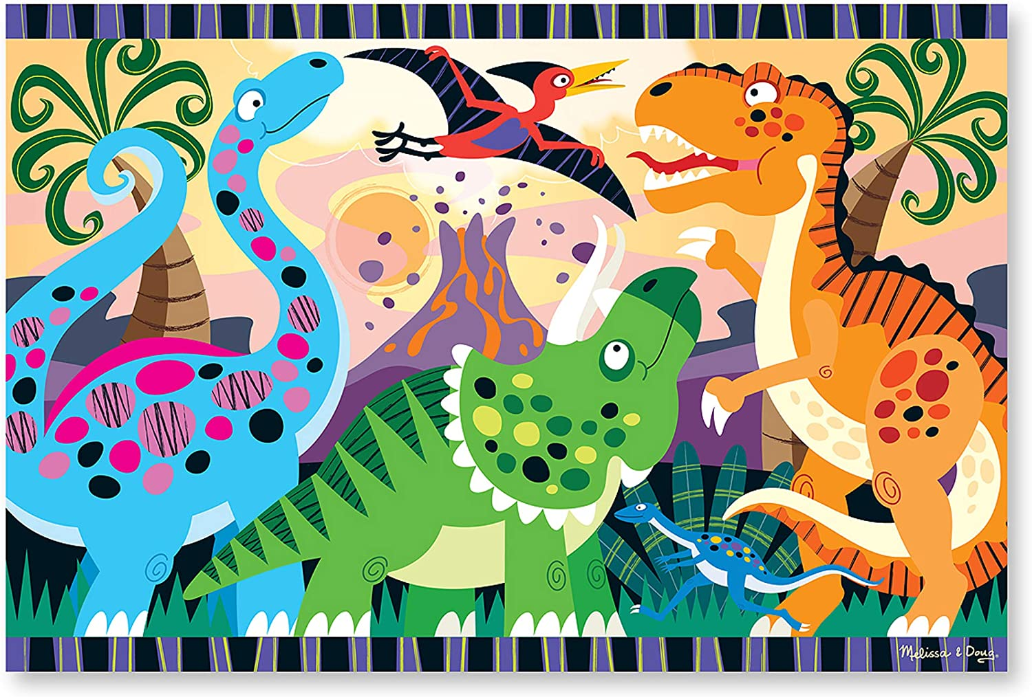 Melissa & Doug 24pc Dinosaur Dawn Floor Puzzle