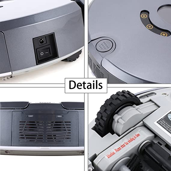 acecoree Robot aspirador robot aspirador con función limpiadora Control Remoto (1800 PA Motor, Super Silencioso fuerte) para todos los suelos Incluso a ...