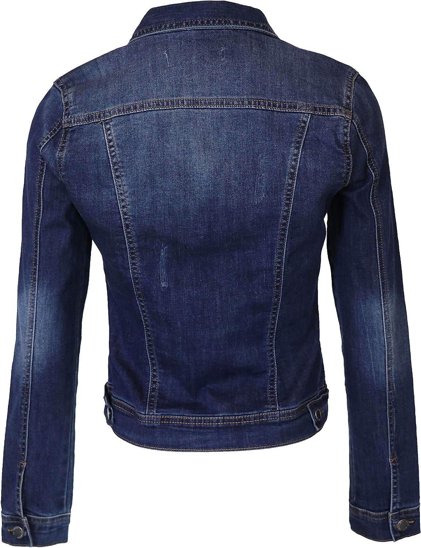 StyLeUp Donna Classic Casual Jacket Vintage Denim Jean//VES
