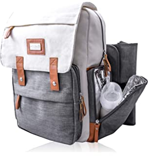 3fa9cd7d6b7d Parker Baby Co. Diaper Backpack - Large Diaper Bag with Insulated ...