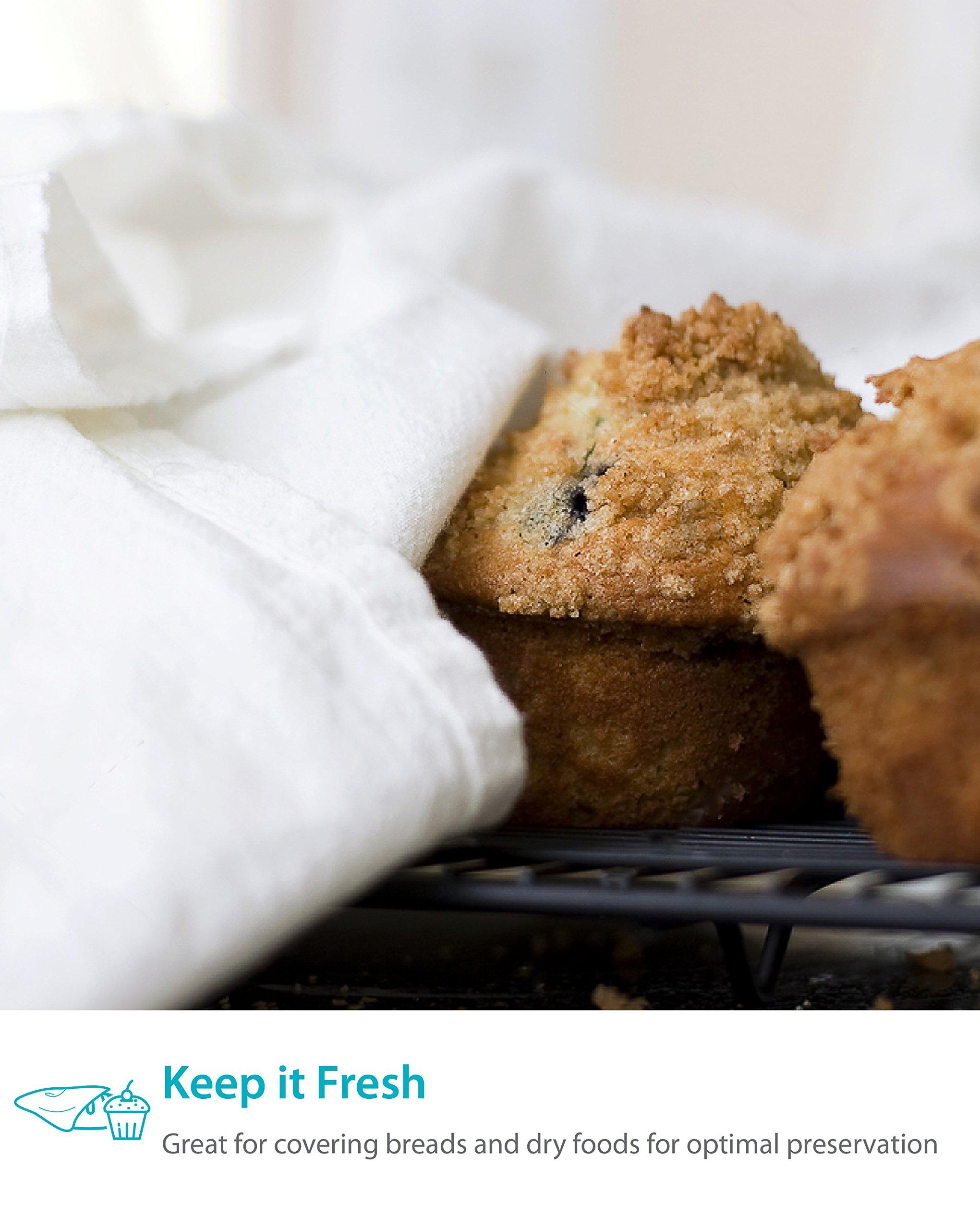 Zeppoli 12-Pack Flour Sack Towels - 31'' x 31'' Kitchen Towels - Absorbent White Dish Towels - 100% Ring Spun Cotton Bar Towels by Zeppoli (Image #6)