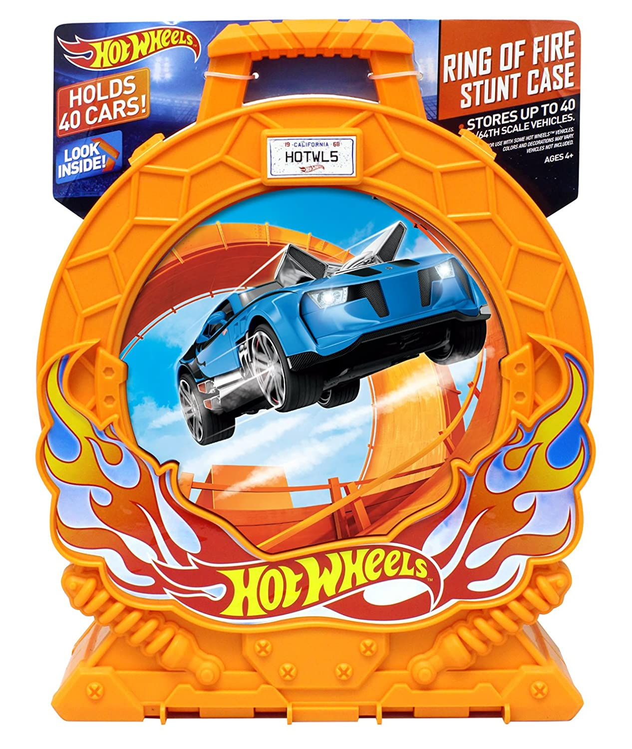 Hot Wheels Ring of Fire 40-Car Storage Case w/Carrying Handle Tara Toy - Use this Code 20144
