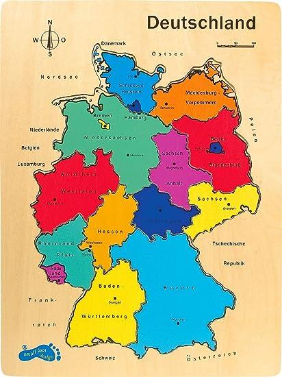 Small Foot 1965 Puzzle Deutschland Aus Holz Zum Nachlegen Mit